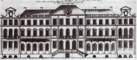 Дворец Ф. М. Апраксина. Северный фасад. 1730-е.