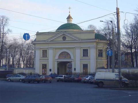Надвратная церковь Александро-Невской лавры. 2005.12.11.