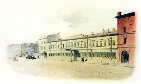 Баганц Ф. Ф., Дом матушки, на Итальянской №18. 1860-1862 годы.