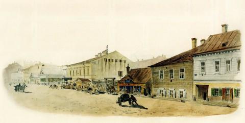 Баганц Ф. Ф., Итальянская улица. 1859 год.