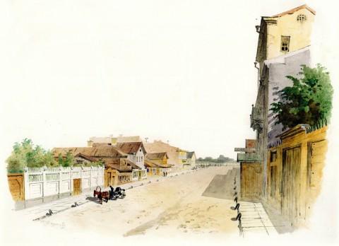 Баганц Ф. Ф., Ковенский переулок. 1859 год.