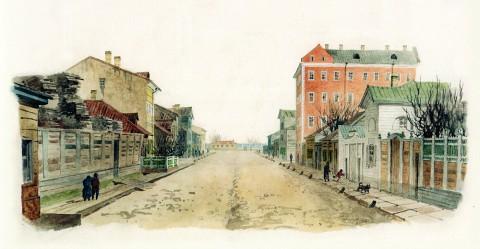 Баганц Ф. Ф., Озерный переулок. 1859 год.