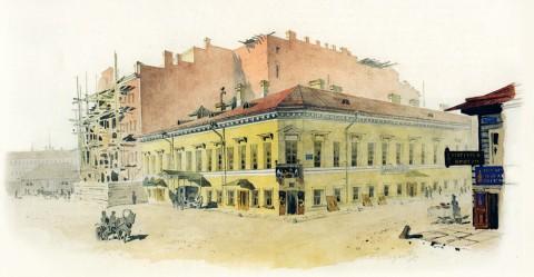 Баганц Ф. Ф., Бассейная улица. Дом Доссе. 1858-1860 годы.