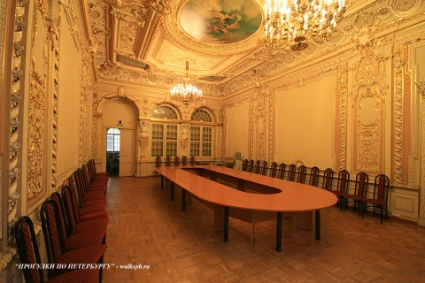 Золотой зал в Малом Мраморном дворце. 2009.04.12.