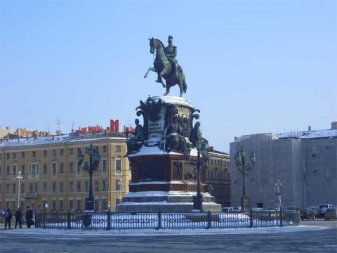 Памятник Николаю I. 2006.03.03.