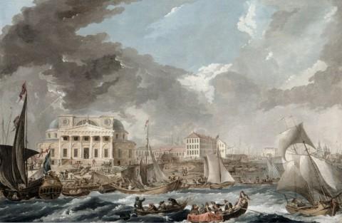 Траверс Ж. Б., Биржа по проекту Дж. Кваренги. 1787.