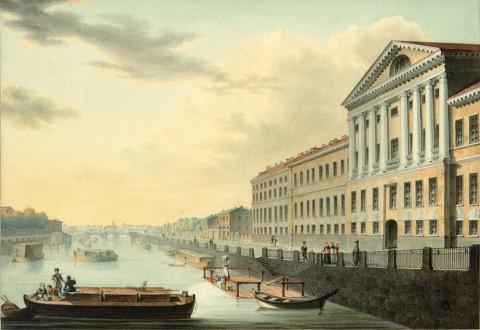 Есаков Е. И., Вид Фонтанки от Измайловского моста. 1820.