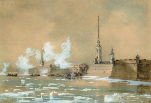 Шарлемань И. И., Открытие навигации на реке Неве. 1850-е.
