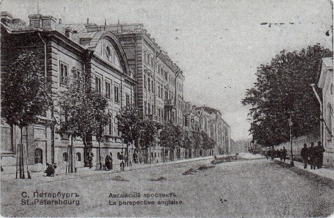 Английский проспект от Мойки до Офицерской улицы.