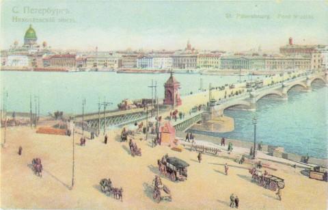 Нева, Николаевская набережная у Николаевского моста.