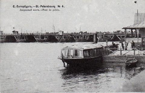 Нева, Дворцовый понтонный мост.