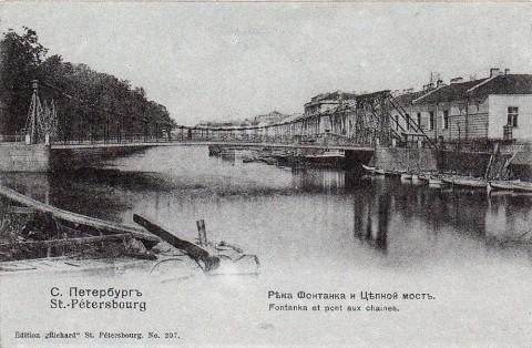 Река Фонтанка и Цепной мост.