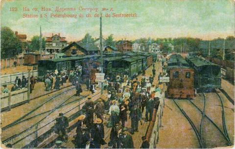Новая Деревня, платформа станции Сестрорецкой ж/д.