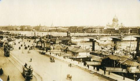Булла К. К., Набережная Невы у Николаевского моста. 1900-е гг..