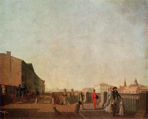 Патерсен Б., Набережная Фонтанки у Симеоновского моста. до 1797 г..