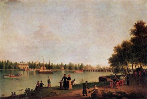Патерсен Б., Дача Строганова на Большой Невке. 1804 г..