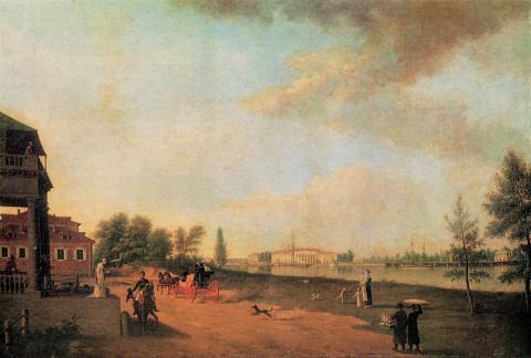 Патерсен Б., Каменноостровский дворец от Аптекарского острова. 1804 г..