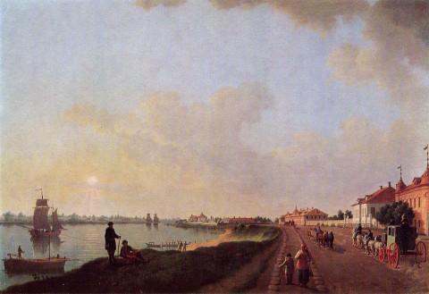 Патерсен Б., Окраина Петербурга у Фарфорового завода. 1793 г..