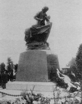 Памятник «Царь-плотник» в день открытия. 1910 г..
