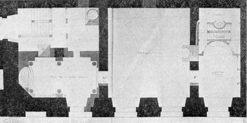 Проект Холодный бань в Зимнем дворце. 1806.