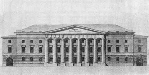 Проект Института Корпуса инженеров путей сообщения. 1812.