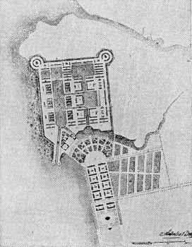 Захаров А. Д., Проект перепланировки главного Гребного порта. Второй вариант.