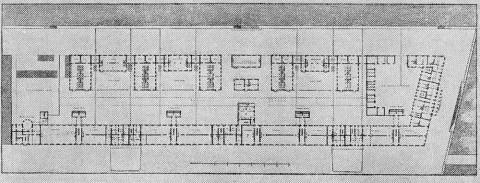 Захаров А. Д., Проект перестройки адмиралтейских казарм. План нижнего этажа.