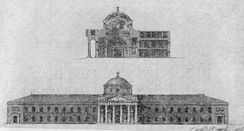 Захаров А. Д., Проект расширения Морского госпиталя на Выборгской стороне.