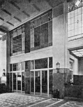 Азовско-Донской коммерческпий банк. Отделка зала. 1909 г..