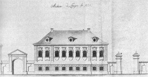 Дом мадам де Ланге. 1740-е гг..