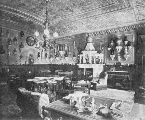 Кабинет на первом этаже особняка А. А. Половцова.