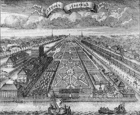 Зубов А. Ф., Летний дворец и Летний сад. 1716.