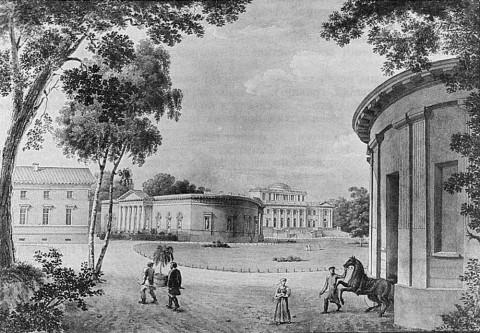 Беггров К. П., Вид на Елагин дворец со стороны Масляного луга. 1823.
