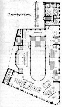 Дом Гвардейского экономического общества. План 2 этажа.