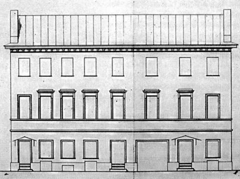 Дом Г. Оленева. Фасад после перестройки 1841 г.. 1862.