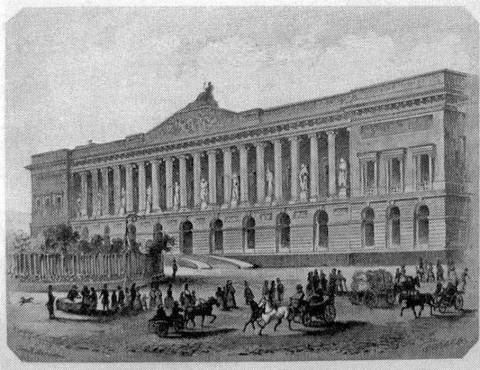 Новый корпус Публичной библиотеки. сер. XIX в..