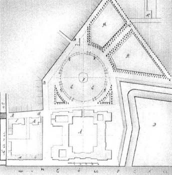 Растрелли Ф. Б., Генеральный план Зимнего дворца, площади и окружающих строений. 1753.