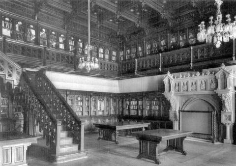 Библиотека императора Николая II в Зимнем дворце. 1880-е.