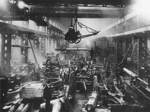 Неизвестный фотограф, Пушечная мастерская Путиловского завода. 31.03.1915.