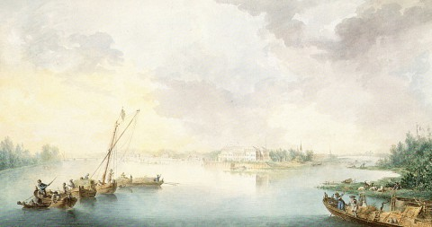 Де ла Траверс Ж. Б., Вид Каменного острова со стороны Невки. 1786 г..