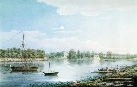 Воробьёв М. Н., Невка у Елагина острова. 1829 г..