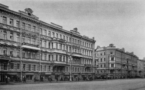 Жилые дома на Невском проспекте, 77, 79. 1985 г..