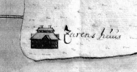 Хоромы Петра I в Летнем саду. 1708.