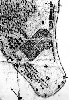 План усадьбы А. Д. Меншикова. 1714.