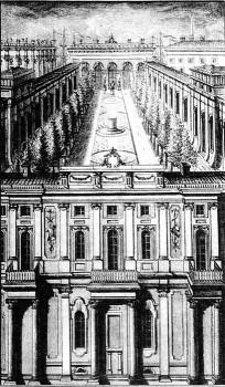 Малый Эрмитаж с Висячим садом. 1773.