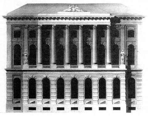 Северный фасад Малого Эрмитажа.