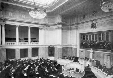 Фотоателье Буллы, Зал заседаний общего собрания Государственного Совета в Мариинском дворце. не ранее 1908 г..