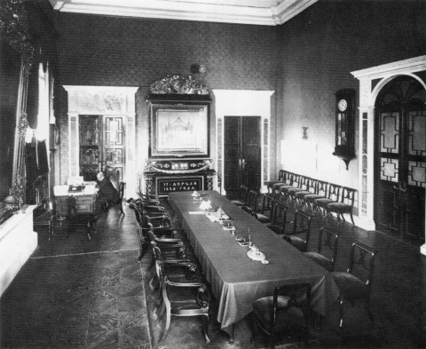 Зал заседаний совета фондового отдела биржи. 1903 г..