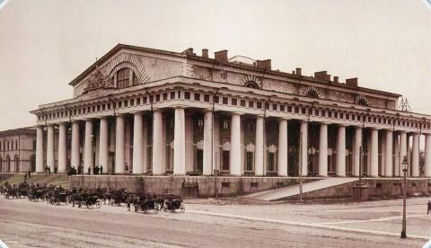 Неизвестный фотограф, Биржа на Васильевском острове. 1890-е гг..