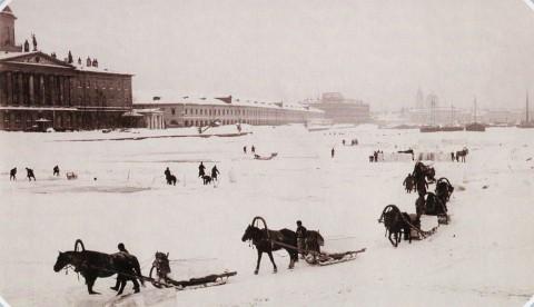 Булла К. К., Вывозка льда с Малой Невы. 1890-е гг..